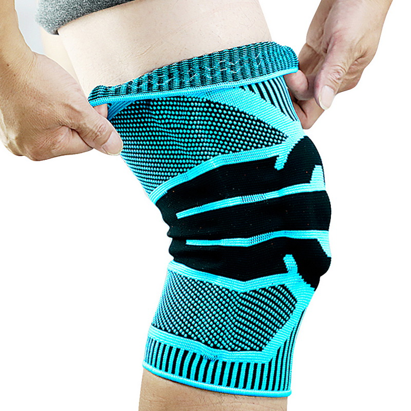 Sport Knee Protector Brace Silicone Spring Knee Pad Basketball Compression Elastic Knee Sleeve Support Safety Kneepads
