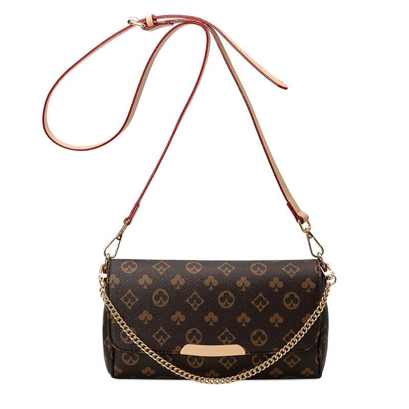 2021 borsa a tracolla da donna di moda europea e americana borsa a tracolla in Pu di alta qualità con Design a quadri borsa da donna di lusso