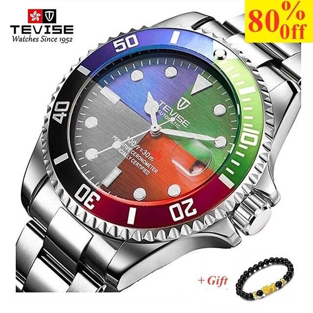 TEVISE mężczyźni zegarki Top marka luksusowe Casual zegarek kwarcowy mężczyzna ze stali nierdzewnej wodoodporny mężczyzna zegar Relogio Masculino 2020