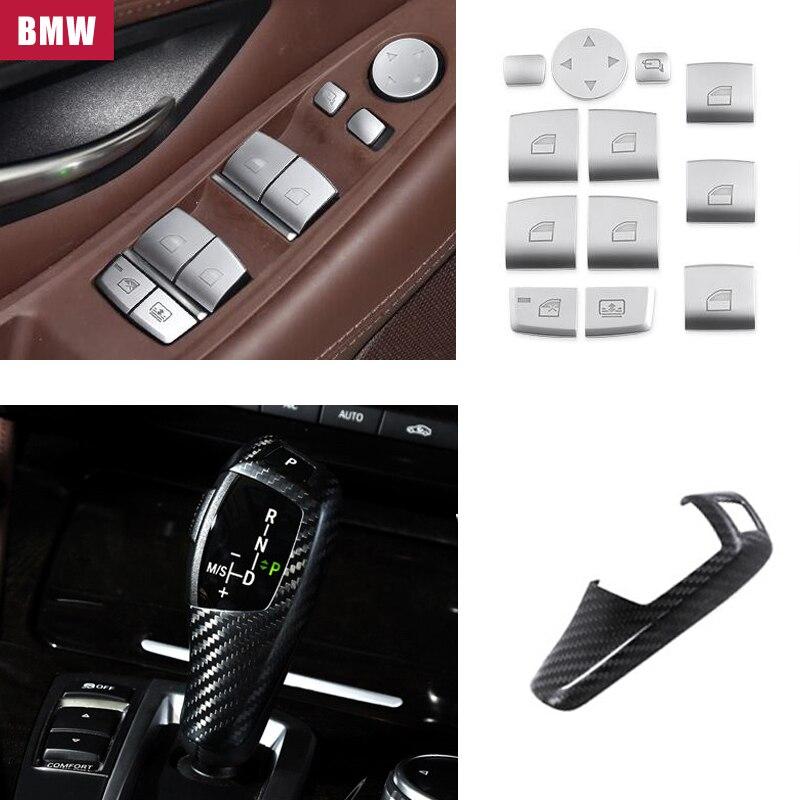Interior Decoration For BMW F15 F16 F25 F26 E60 E70 E90 E92 X3 X5 F10 F20 F30 M logo Multimedia Window Buttons Knob Flame Emblem
