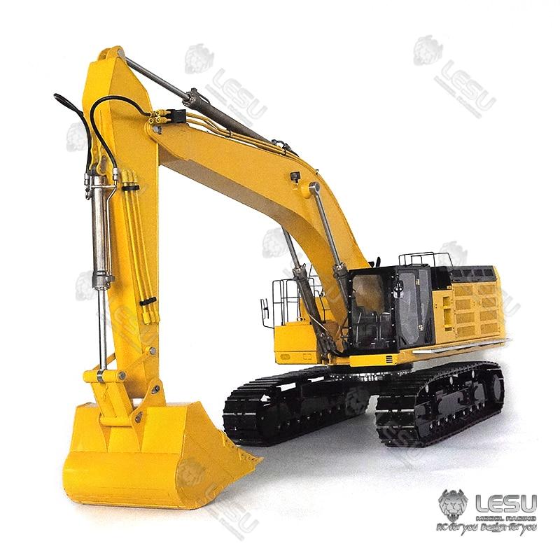 RCLESU full metal heavy excavator model 1/14 Carter C374F crawler hydraulic excavator extra large digging shovel