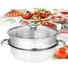 2 яруса, пароварка для приготовления пищи, кухонная посуда, кухонный инструмент на день рождения, специальное предложение, нержавеющая сталь