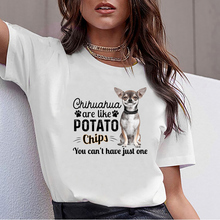 Tops T Shirt Women chihuahua are like potato Sexy Harajuku S