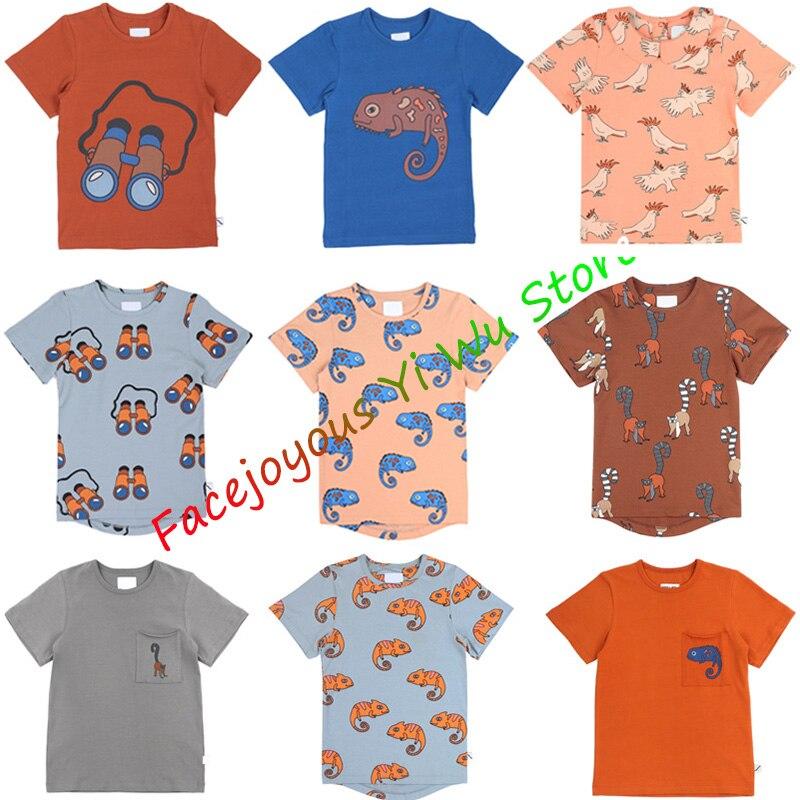 Kids T-shirt 2020 CarlijnQ New Summer Boys Girls Cartoon T Shirt Print Short Sleeve Shirts Baby Child Fashion Tops Tees Clothes