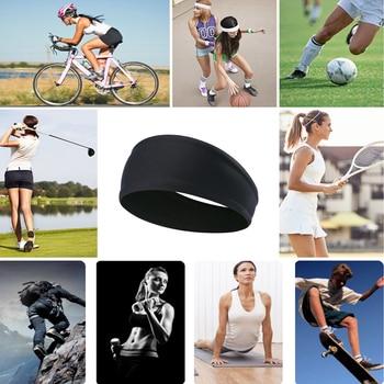 Summer Sweat Sweatband Headbands Hair Band Elastic Soft Stretch Sport Bicycle Non Slip Headwear Hair Accessories Men Women Girls 10