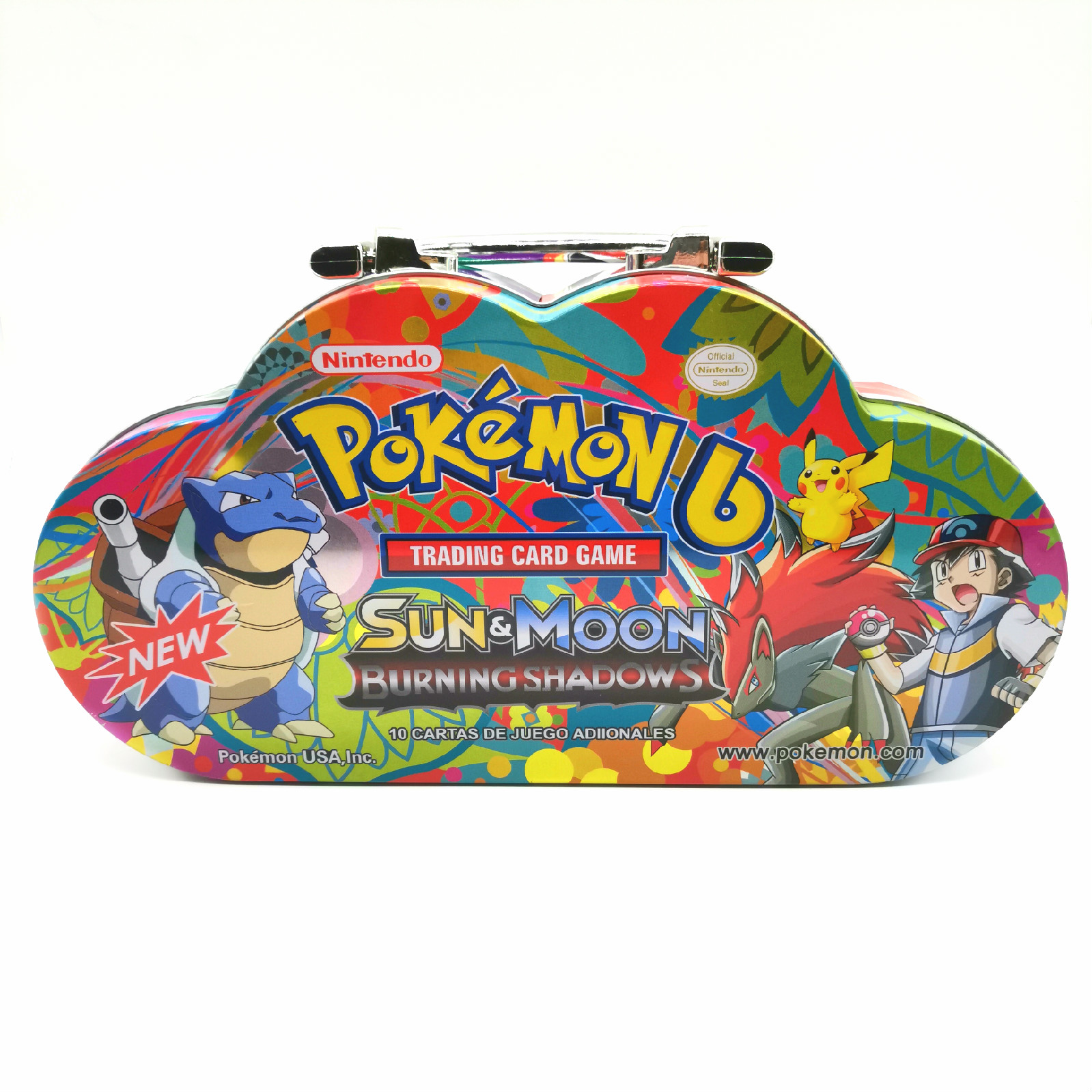 80pcs/set Pokemon Portable Tin Box TAKARA TOMY Battle Toys Hobbies Hobby Collectibles Game Collection Anime Cards For Children