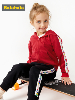Balabala Kids Boys Clothes Set 2019 Toddler Kids Baby Girls Clothes Spring Autumn T-shirt Hoodie Tops+Long Pants Outfits Set 2pc