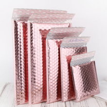 US stock 10 pieces /pack padded envelopes poly pink bubble mailers rose gold holographic bubble mailers for shipping and packing