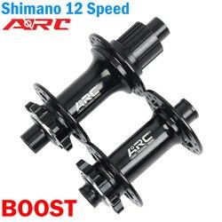 ARC MT009 piasta rowerowa BOOST 148*12 110*15MM DEORE XT M8100 M7100 M6100 piasta 12 prędkości piasta 32H MTB rower MICRO SPLINE hub XD 12S w Piasty rowerowe od Sport i rozrywka na
