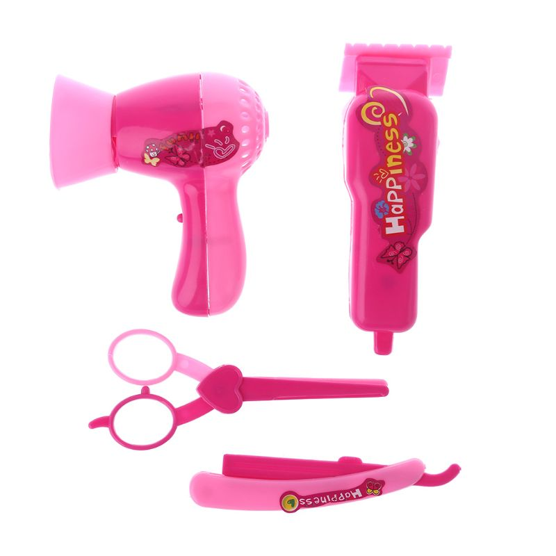 5 Pieces Salon Set with Hair Dryer Mirror Comb Beauty Kit for 1//12 Dollhouse