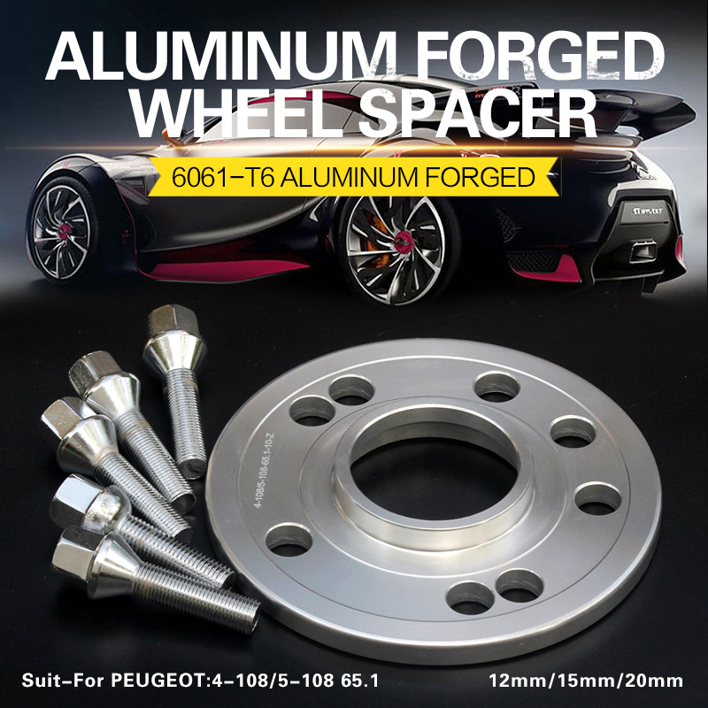 2/4Pieces 12/15/20mm Wheel Spacers Adapters 4x108/5x108 65.1mm For CITROEN C-Elysée C2/C3/C3-XR/C4/C4L/DS3/DS4/C5/DS5/C6/Jumpy
