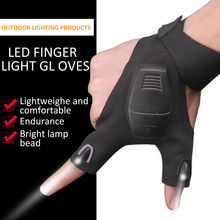 Fishing-Gloves Flashlight Waterproof LED Outdoor Camp