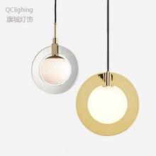 Lámpara colgante minimalista moderna, lámpara de techo nórdico, decoración de ropa, lámpara de bola de cristal para sala de estar, dormitorio, comedor