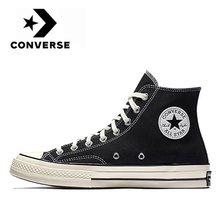 Кеды Converse- Chuck Taylor 1970s унисекс, Классические высокие кроссовки, высокие кеды, парусиновая обувь, черные, оригинал
