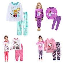 Boys Sleepwear Pyjama Nightwear Elsa Mickey Kids Minnie Baby-Girls Children Autumn Anna