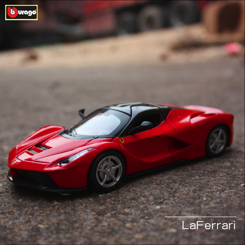 Bburago 1:18 Ferrari La  car alloy model simulation decoration collection gift toy Die casting boy