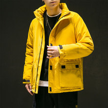 Winter jacket men 2019 new students thick Korean version of the trend short tooling clothing large size cotton