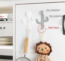 Cactus Shaped Hooks Self Adhesive Clothing Display Racks Key Holder Wall Hook Coat Hanger Cap Room Decor Show