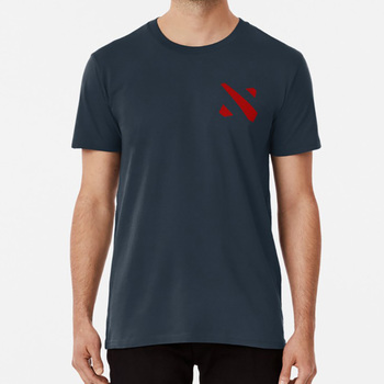 Dota 2 Left Crest Logo T shirt T shirt support carry dota dota 2 ward moba the international defence of the ancients geek geeky