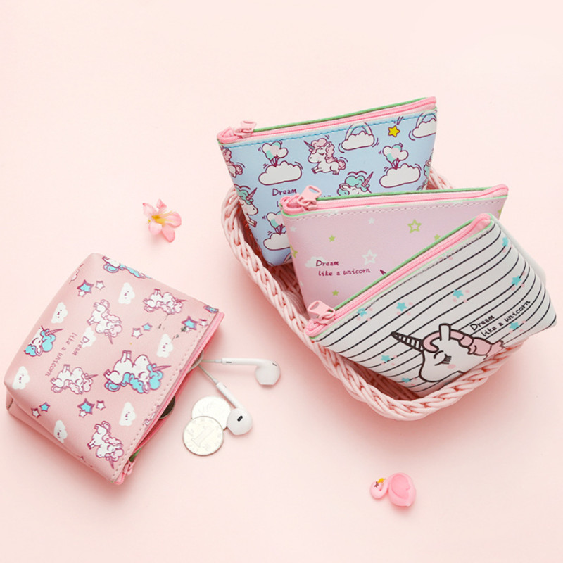 High-capacity Multi-function Unicorn Cosmetic Bag Travel Toiletry Pouch Women For Cosmetic Jewelry Small Objects Makeup Storage