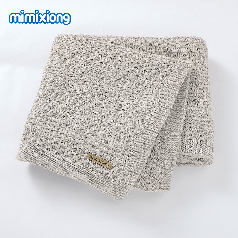 Baby Blankets Super Soft Newborn Bebes Swaddling Wrap For Stroller Bedding Sofa Lightweight Toddler Infant Knitted Quilts 100*80