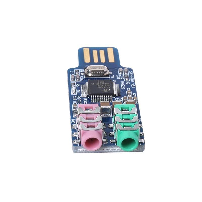 CM108 USB Drive Free Sound Card Laptop Computer External Sound Card Module 3