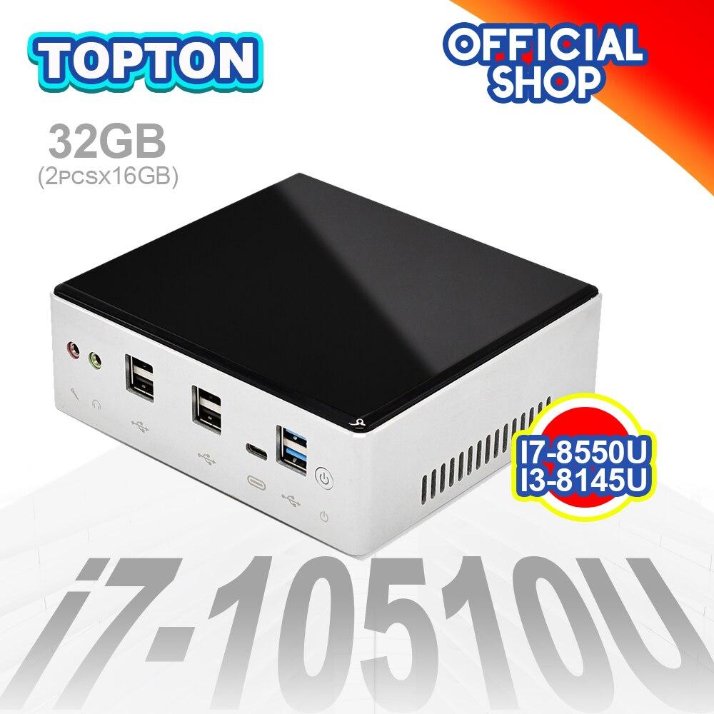 Лучшие дешевые 10-го поколения мини ПК Intel i7-10710U i5-8250U 6 * Core 2 * DDR4 M.2 NVMe NUC компьютер Windows 10 Linux WiFi USB-C DP HDMI PC