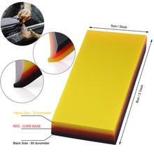 FOSHIO 2in1 Weichen Carbon Schutzhülle Film Installieren Rakel Schaber Vinyl Wrap Auto Fenster Tönung Werkzeug Auto Auto Reinigung Pinsel