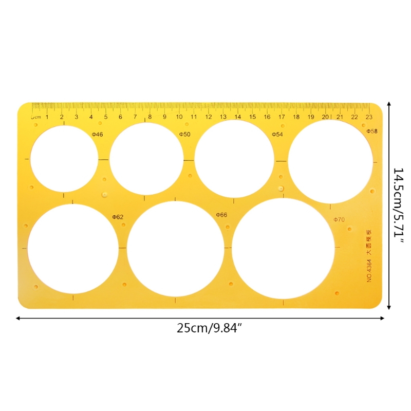 K Resin Round Geometric Template Ruler Stencil Drawing Measuring Tool Students LX9A