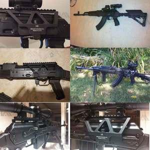 Image 5 - Soporte táctico CNC de liberación rápida AK para pistola de Rifle, accesorio para caza, puntero rojo, AK 47 AK 74, Picatinny