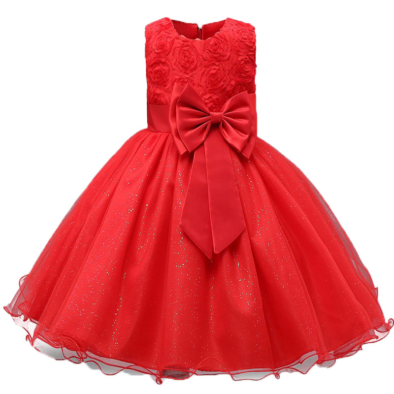 Baby Girls Sequins Flower Party Tutu Dress Clothes Children Girls Wedding Birthday Dress Clothing Infant Kids Christmas Costume 5