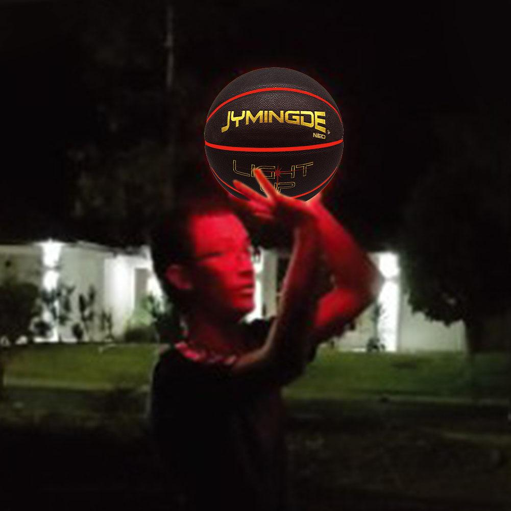 Light Up Basketball Durable Luminous Basketball With Two High Bright LED Lights Perfect For Night Games