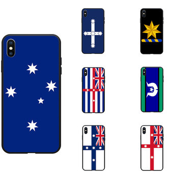 Australia Colonial Federation Murray National Flag Theme Soft TPU Phone Cases Cover For iPhone 6 7 8 S XR X Plus 11 Pro Max image