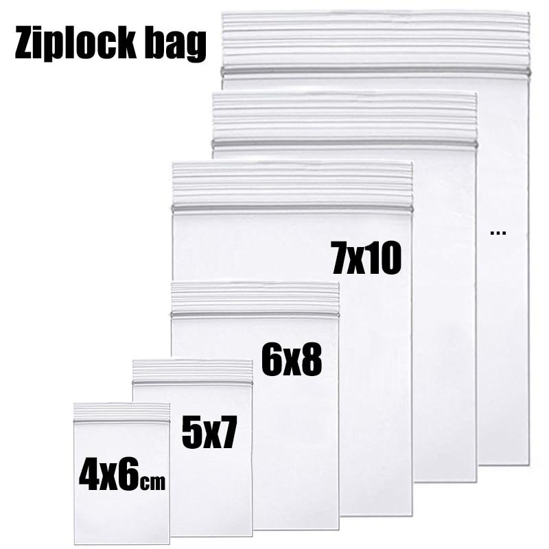 Плотная ясная замкнутая пакет для хранения на молнии сумки сверхпрочный прозрачный Пластик молния посылка небольшой для упаковки ювелирны...