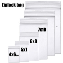 Thick Clear Zip Lock Ziplock Storage Bags Heavy-Duty Transparent Plastic Zip Package Small Jewelry Packing Reclosable Poly Bag