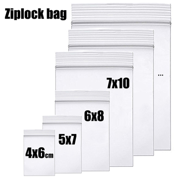 Thick Clear Zip Lock Ziplock Storage Bags Heavy-Duty Transparent Plastic Package Small Jewelry Packing Reclosable Poly Bag - discount item  11% OFF Home Storage & Organization