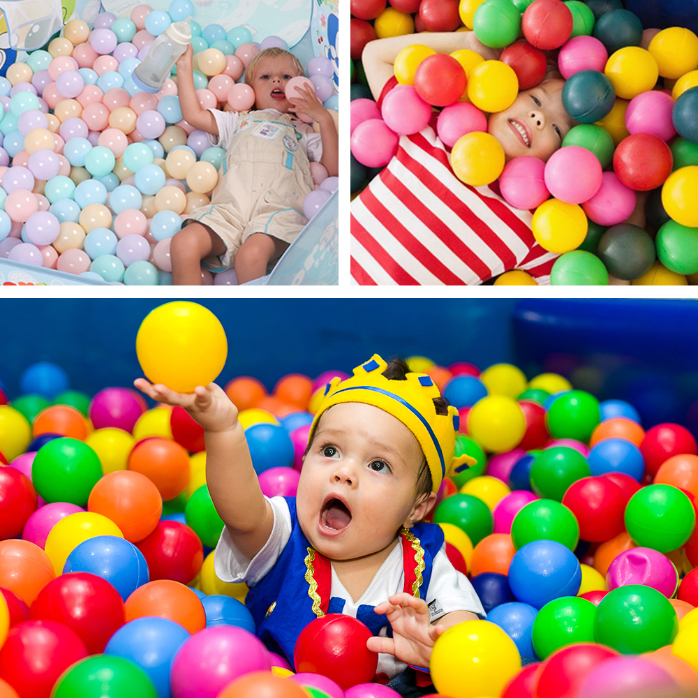 100Pcs/Set Plastic Balls 7CM Balls For Dry Pool Funny Kid Swim Pit Toy Dry Pool Wave Game Eco-Friendly Colorful Ocean Sphere