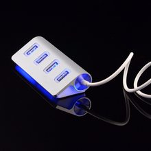 High quality led Mini 4 Port HUB High Speed USB 2.0 Splitter Adapter Hub with Cable For Macbook PC Laptop цена