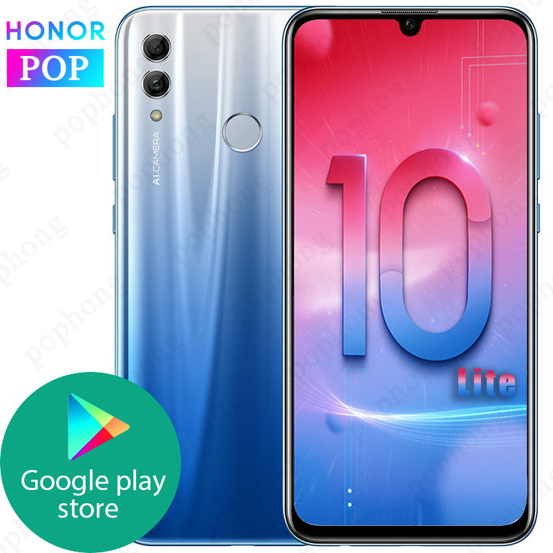 HONOR 10 Lite Mobile Phone 6.2 Inch 2340X1080 Full Screen 4GB/6GB RAM Android 9.0 24MP AI Camera Fingerprint Smartphone