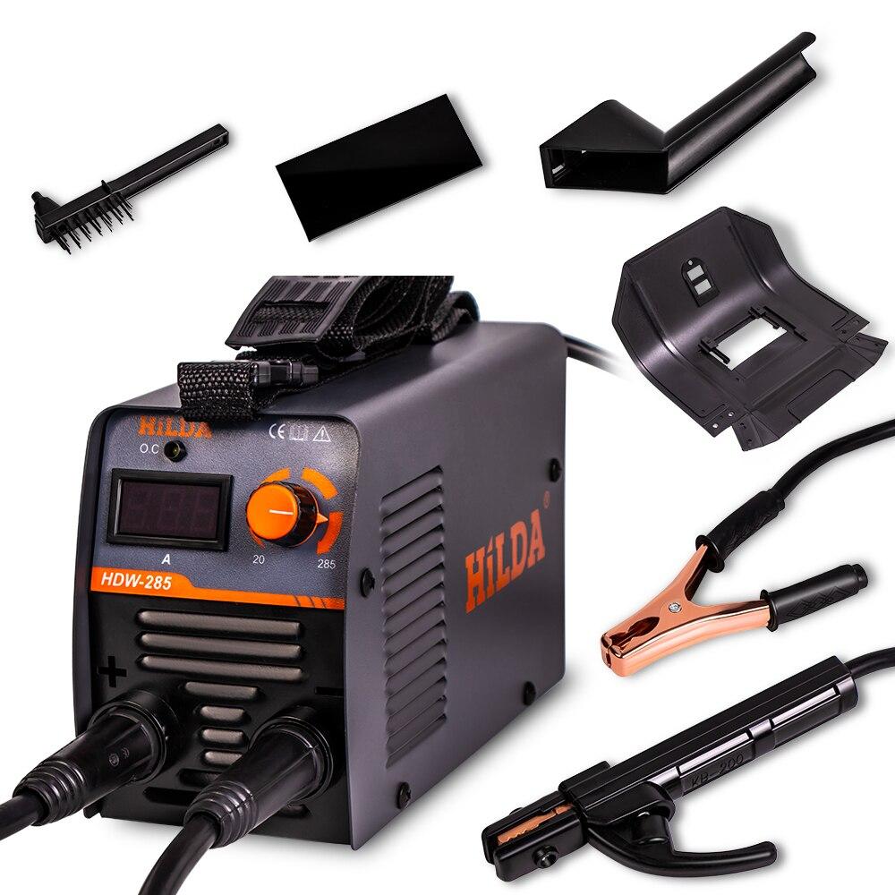Инвертор постоянного тока дуговой сварочный аппарат 220 В сварочный аппарат 285 ампер для домашнего новичка легкий эффективный