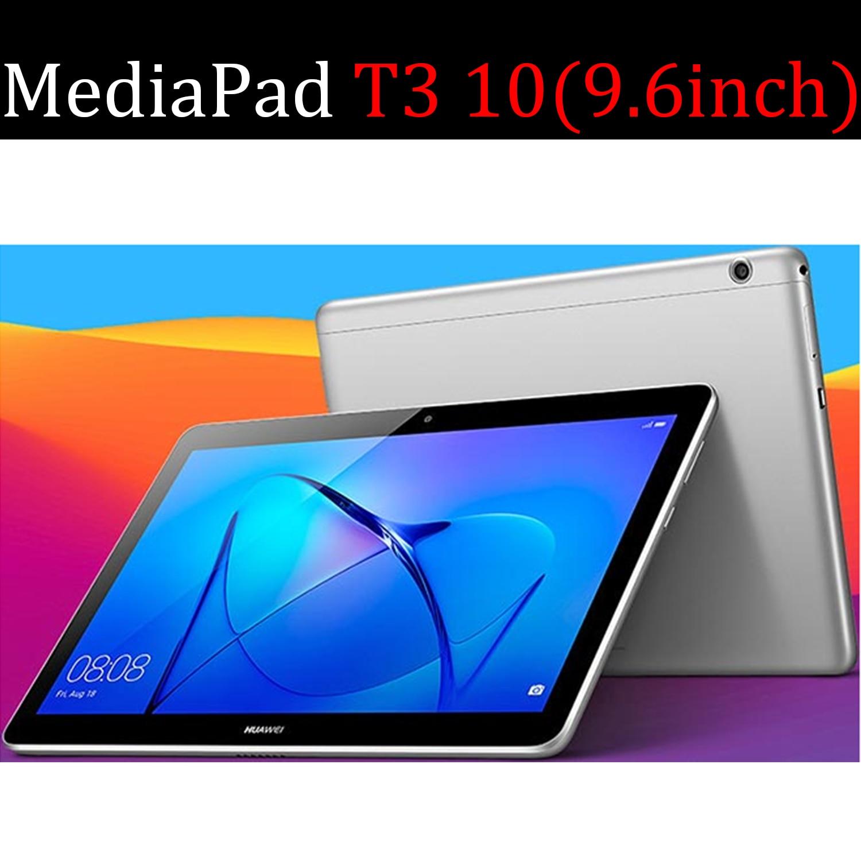Чехол для планшета Huawei MediaPad T3 10, 9,6 дюйма, кожаный чехол с функцией смарт-сна, трехслойный чехол с подставкой, Твердый чехол для телефона, чехол для Huawei MediaPad T3 10/L09/L03-5