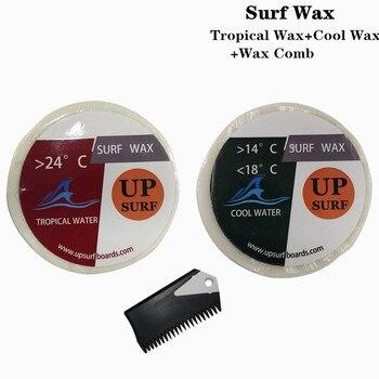 Natural Surfboard Tropical wax+Cool wax+surf wax comb surf wax for surfing sport surf wax cool water wax surf wax comb good quality surfboard wax