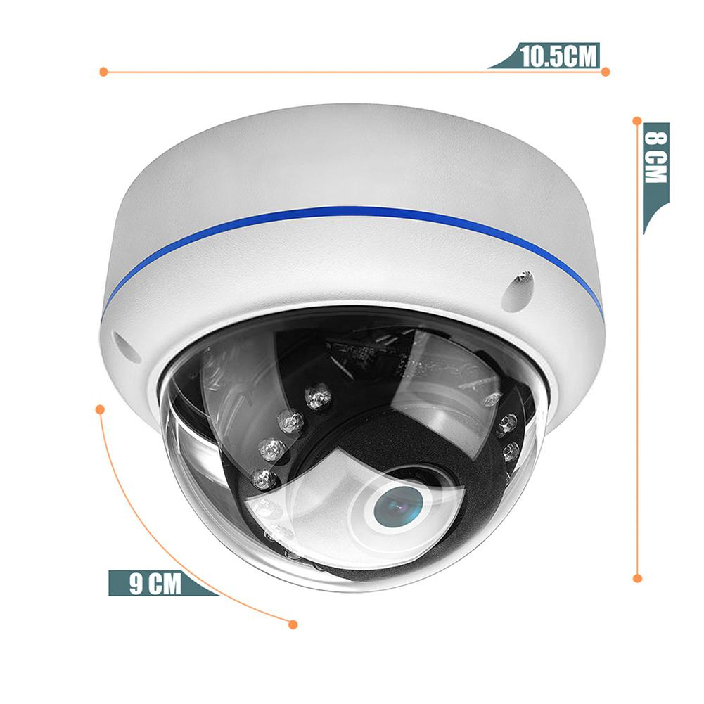 HiMISS 1080P Vandal-proof IP Camera Wifi ONVIF P2P TF Card Slot CCTV Dome Camera Wireless Wired Audio Recorded Security Camera