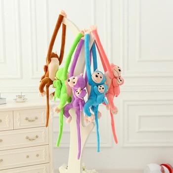 цена на 70CM Kawaii Toy Long Arm Tail Monkey Stuffed Doll Plush Toys Curtains Baby Sleeping Appease Animal Doll Birthday Gifts