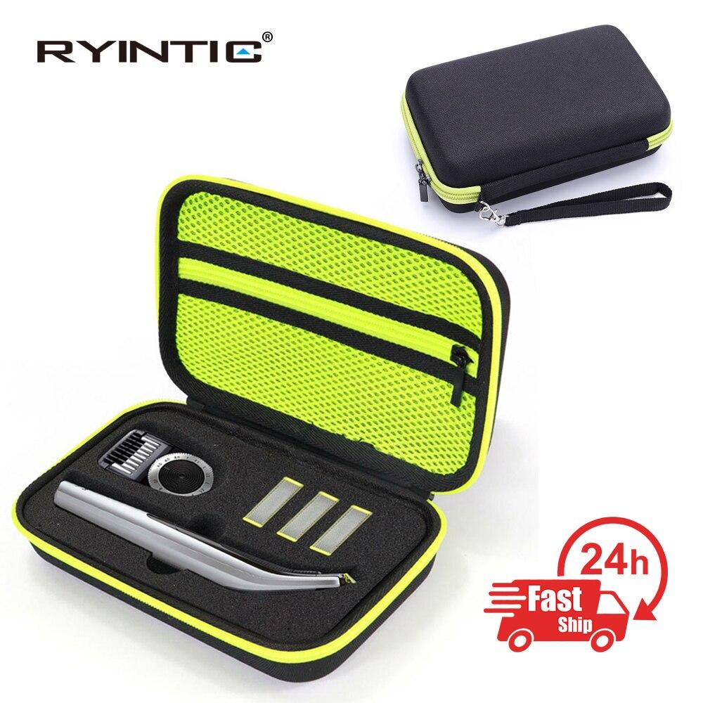 Estuche de almacenamiento de viaje de EVA duro portátil para Philips OneBlade Pro Trimmer afeitadora accesorios caja cubierta cremallera bolsa con forro