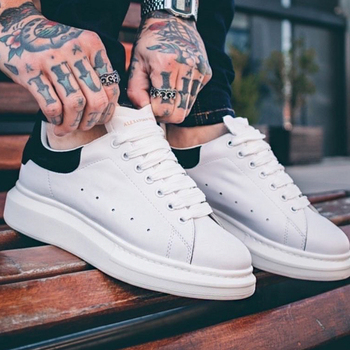 Zapatos informales de piel para hombre, zapatillas de deporte masculinas de alta...