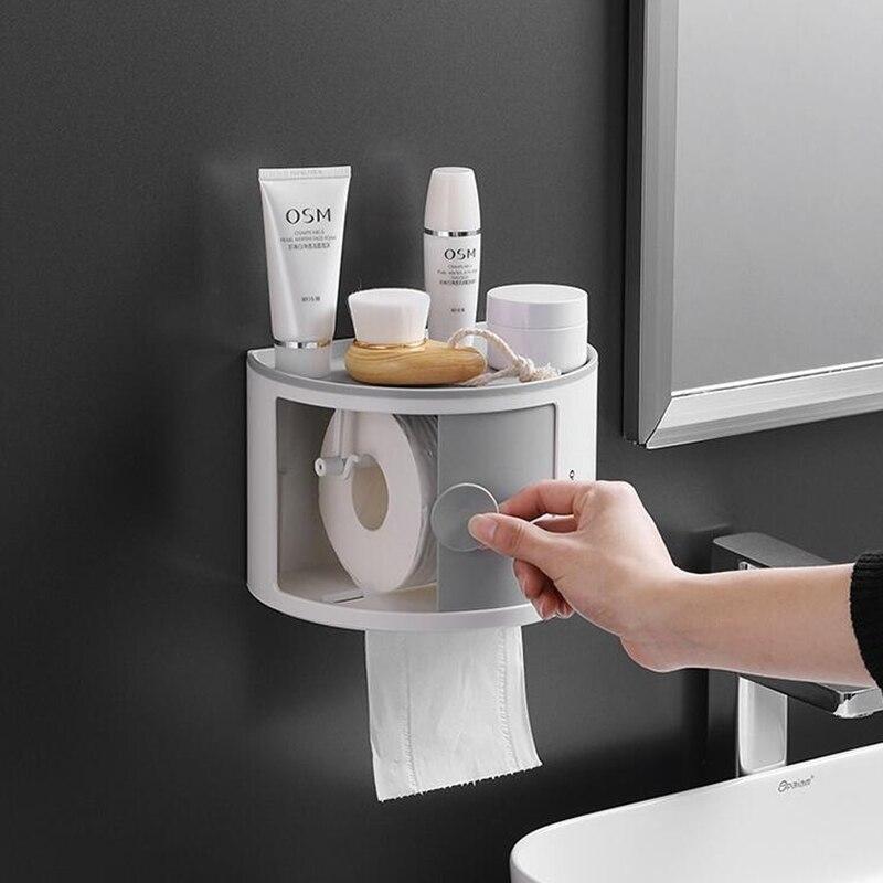 Bathroom bathroom storage toilet paper holder bathroom organizer storage bathroom shelves bathroom accessories toilet roll holde