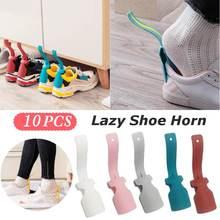 2pcs 17cm Shoe Horns Unisex Professional Lazy Shoe Helper Shoe Lifter Tool Plastic Shoe Horn Spoon Shoes Accessories