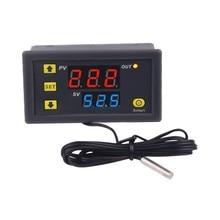W3230 sonda linha 20a controle de temperatura digital display led termostato com instrumento controle de calor/refrigeração 12v 24v AC110-220V