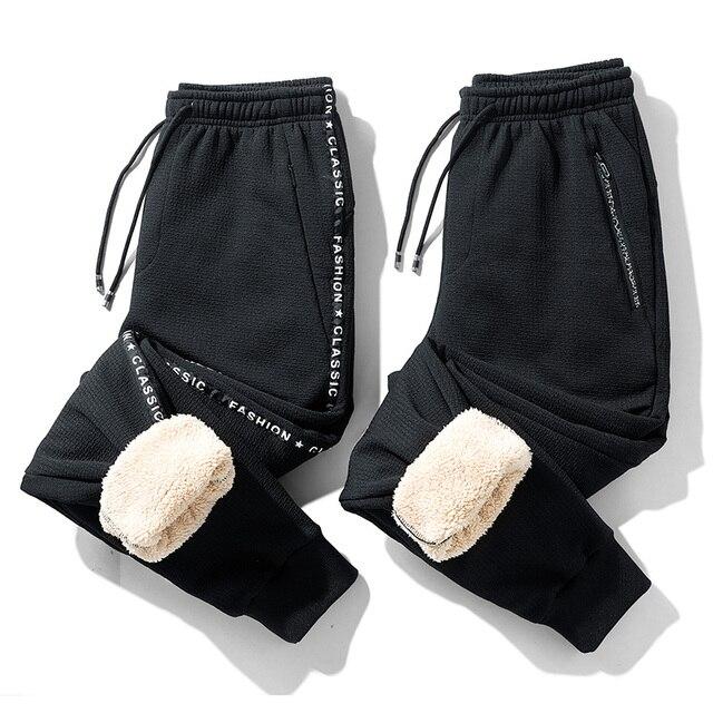 Супер Теплые Зимние флисовые тренировочные штаны, мужские плотные брюки джоггеры, мужские уличные длинные брюки больших размеров 6XL 7XL 8XL